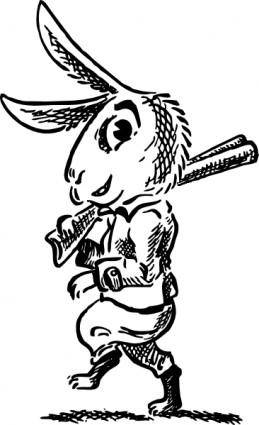 free vector Hare With Shotgun clip art