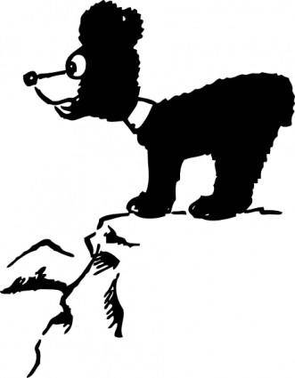 Bear Cub Oon Cliff clip art