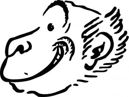 free vector Monkey Profile clip art