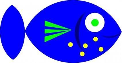 Blue Fish clip art