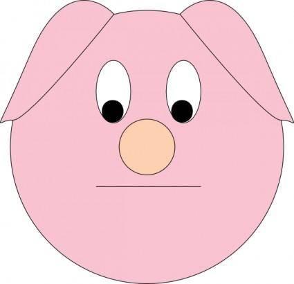 Sad Piggy clip art