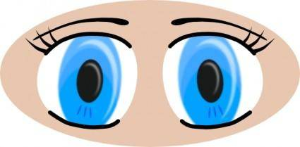 Anime Eyes clip art