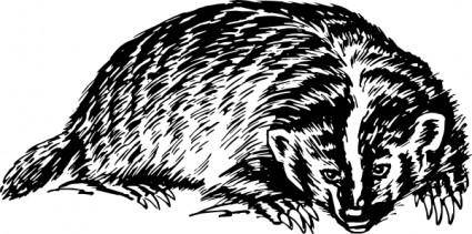 free vector Badger clip art