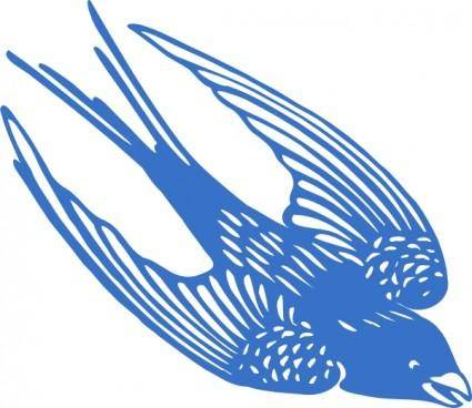 Blueswallow clip art