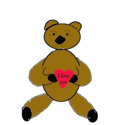 free vector Love Bear clip art