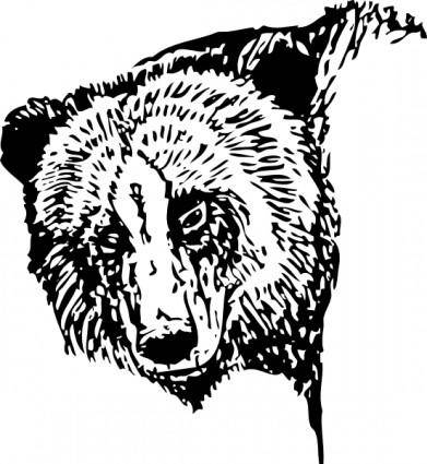 Bear Head clip art