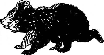free vector Black Bear Cubs clip art