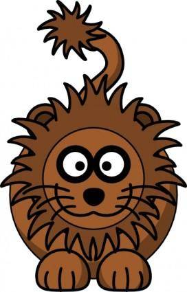 free vector Cartoon Lion clip art