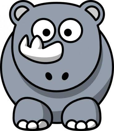 free vector Studiofibonacci Cartoon Rhino clip art