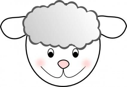 Smiling Good Sheep clip art