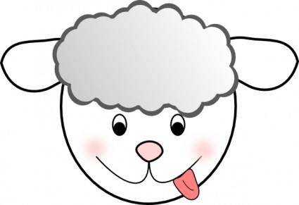 Smiling Bad Sheep clip art