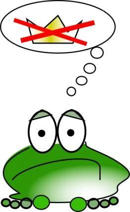 Sad Frog  clip art