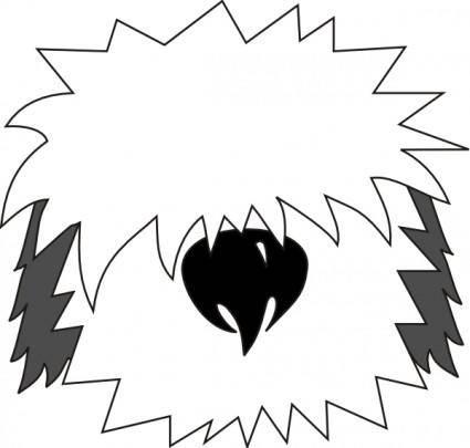 Dog Bobtail clip art