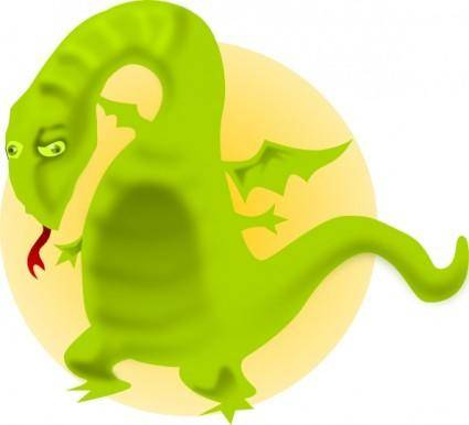 free vector Cartoon Dragon clip art