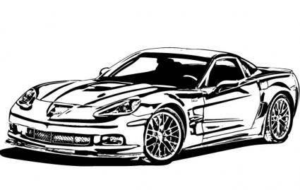 Corvette ZR1 Vector