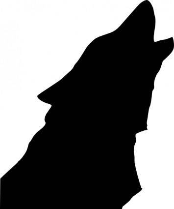 free vector Wolf Head Howl clip art
