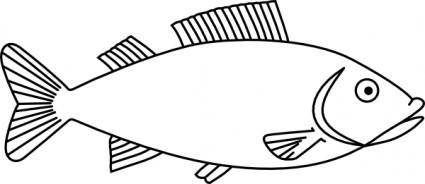 free vector Fish Outline clip art