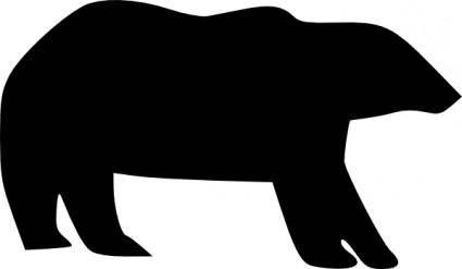 Bear Icon clip art