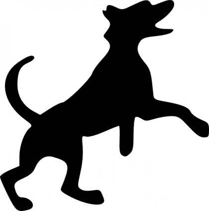 free vector Jumping Dog clip art