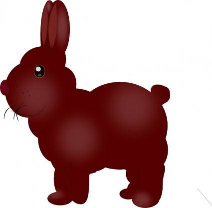 Chocolate Bunny clip art