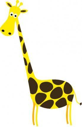 free vector Cartoon Giraffe clip art
