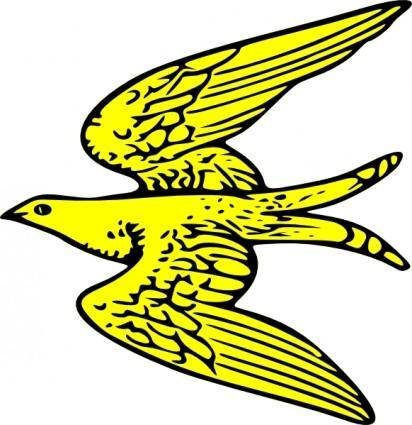 Flying Yellow Bird clip art