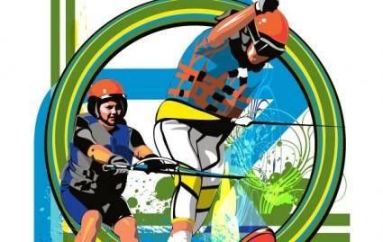 free vector Water Skiiers
