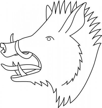 free vector Boars Head clip art
