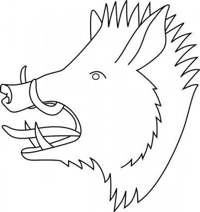 Boars Head clip art
