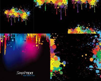 Colorful ink vector 1194