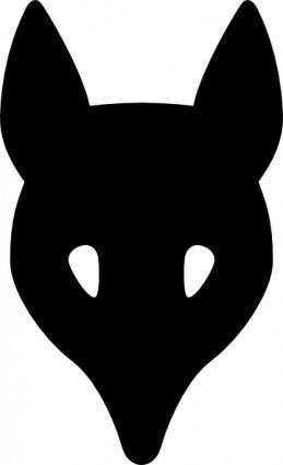free vector Wolf Head Silhouette clip art