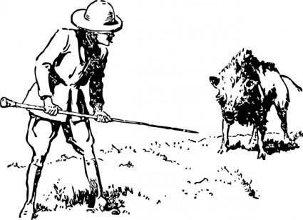 Hunting Boar clip art