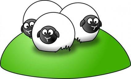 free vector Simple Cartoon Sheep clip art