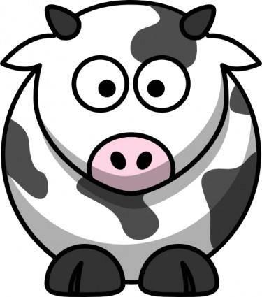 free vector Cartoon Cow clip art