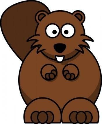 free vector Cartoon Beaver clip art