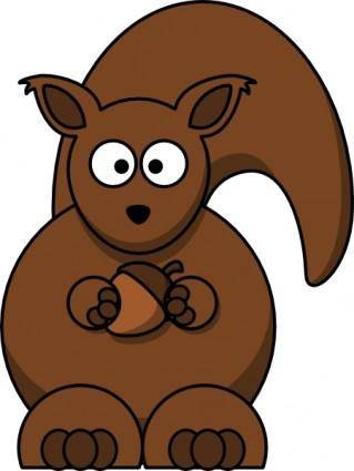 free vector Cartoon Squirrel clip art