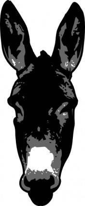 Donkey Head clip art