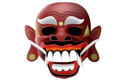 free vector Traditional balinese mask