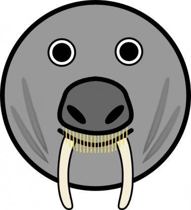 Seal Animal Rounded Face clip art