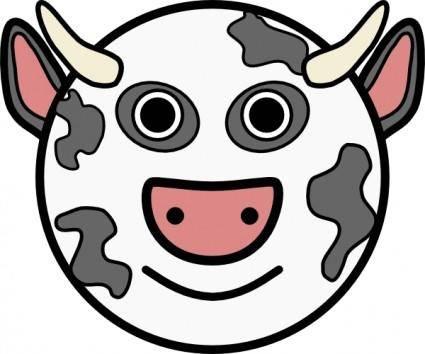 Cow Vache clip art