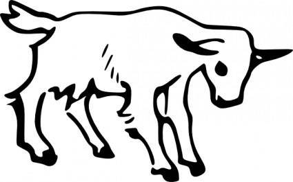 free vector Goat Outline clip art