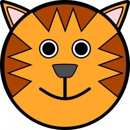 free vector Tiger Face clip art