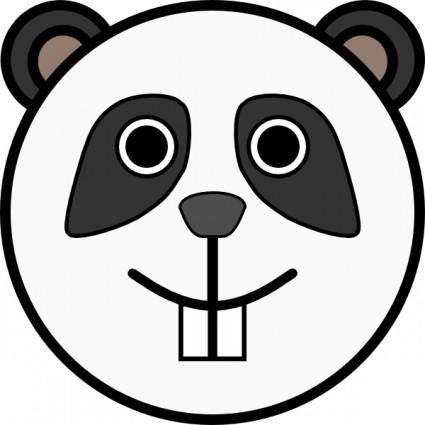 free vector Panda Rounded Face clip art