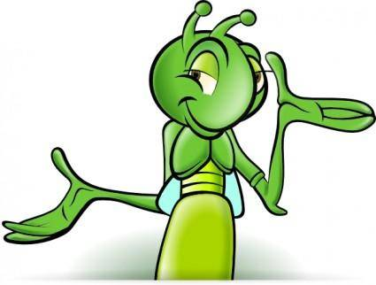 Cartoon Cricket clip art