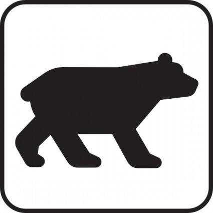 Bear Viewing White clip art