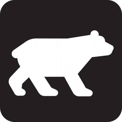 Bear Viewing Black clip art