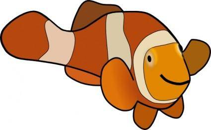 free vector Clown Fish clip art