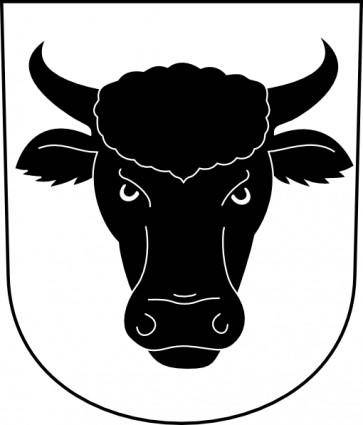 Cow Bull Horns Wipp Urdorf Coat Of Arms clip art