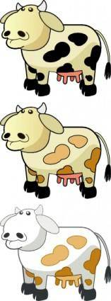 Colour Cows clip art