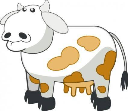 free vector Colour Cows clip art